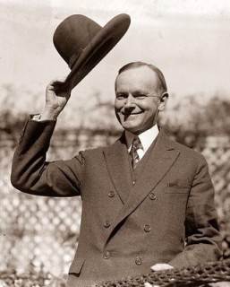 President Calvin Coolidge knew how and when to tip his hat.