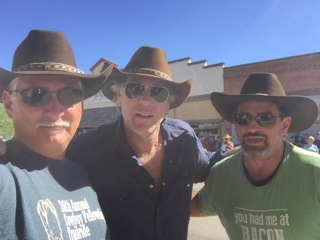 Longmire hats with Sheriff Longmire